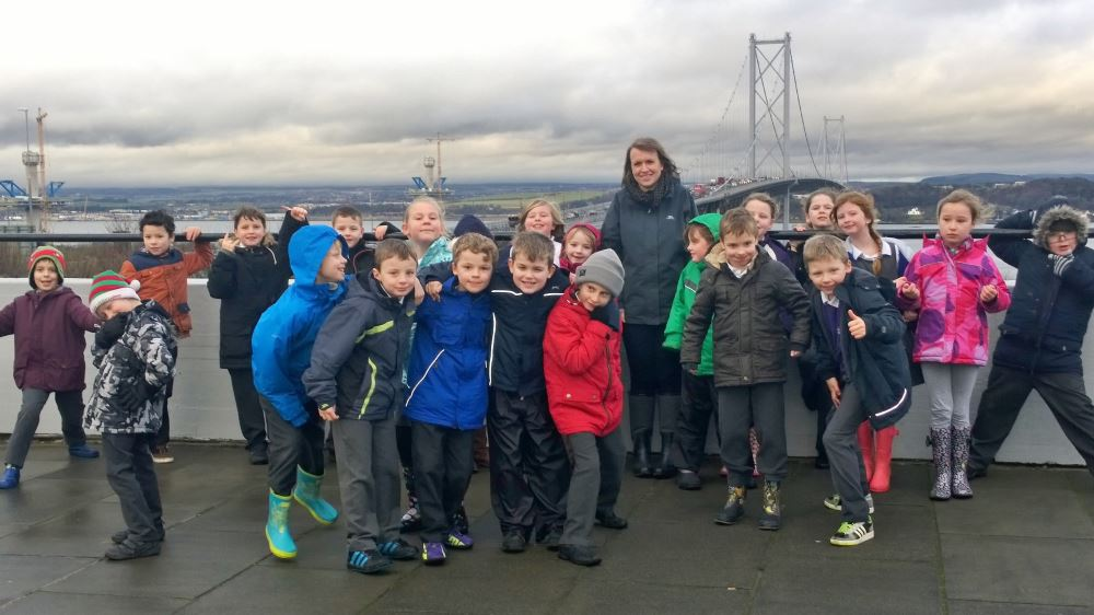 A very windy picture at the Forth Road Bridge!